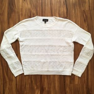 Topshop White Sweater